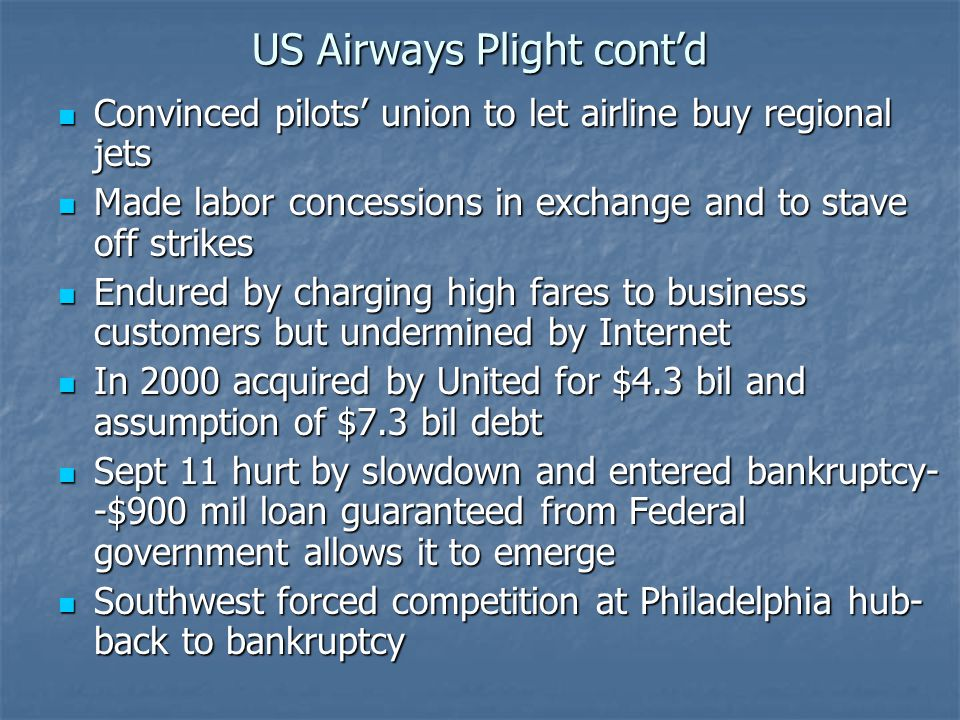 US Airways Plight cont'd