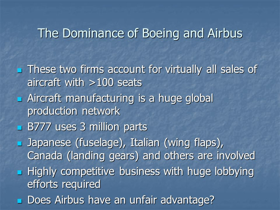The Dominance of Boeing and Airbus