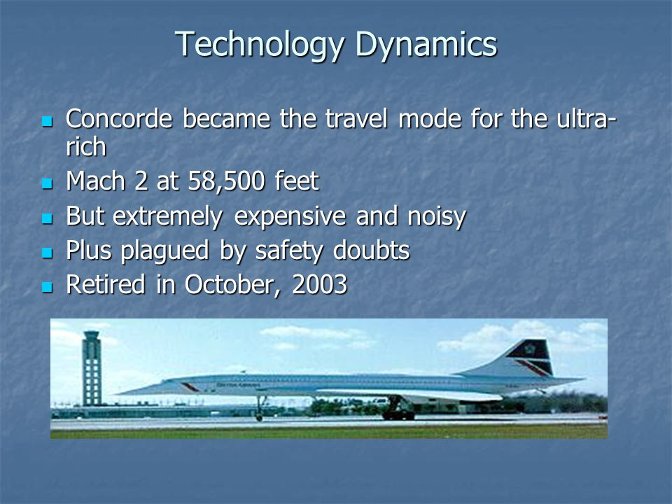 Technology Dynamics Concorde became the travel mode for the ultra-rich