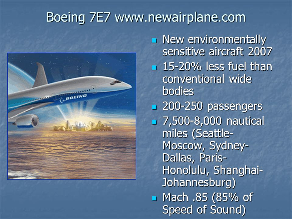 Boeing 7E7 www.newairplane.com
