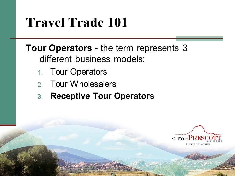 Travel Trade 101 Tour Operators - the term represents 3 different business models: Tour Operators.