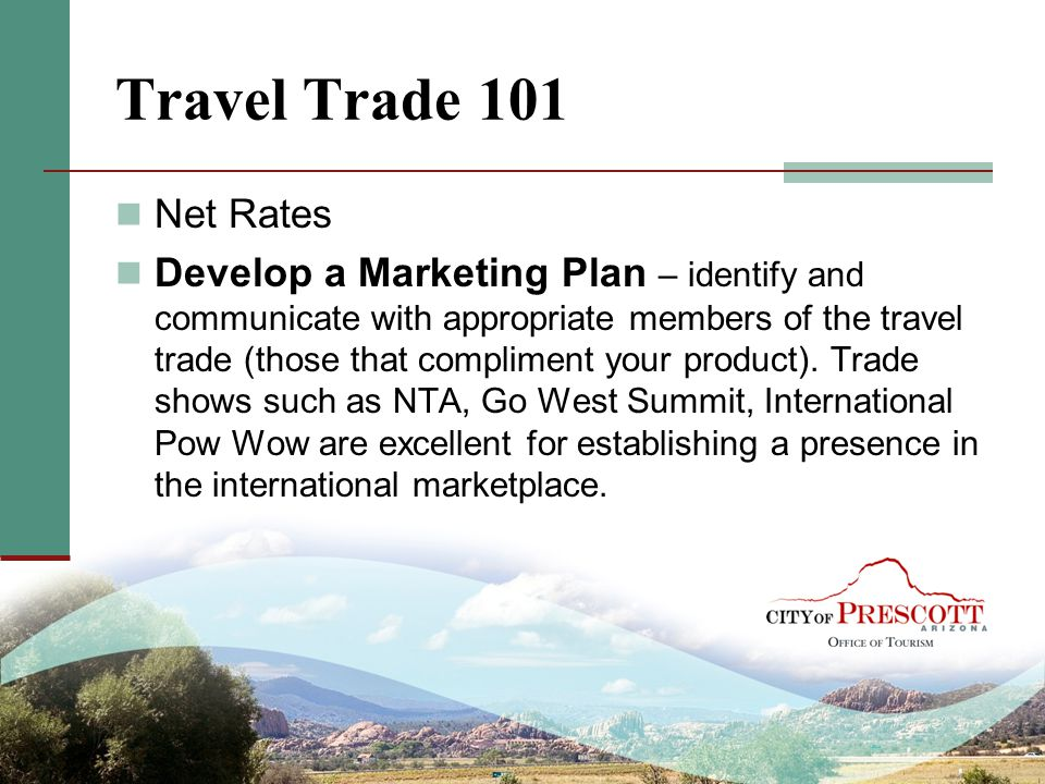 Travel Trade 101 Net Rates.