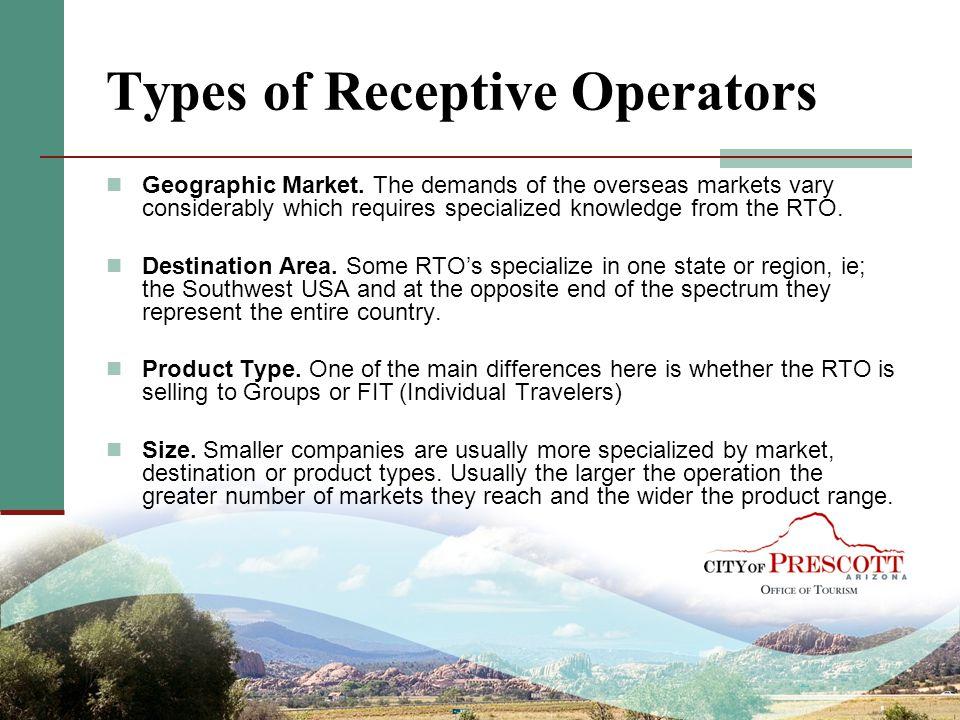 Types of Receptive Operators