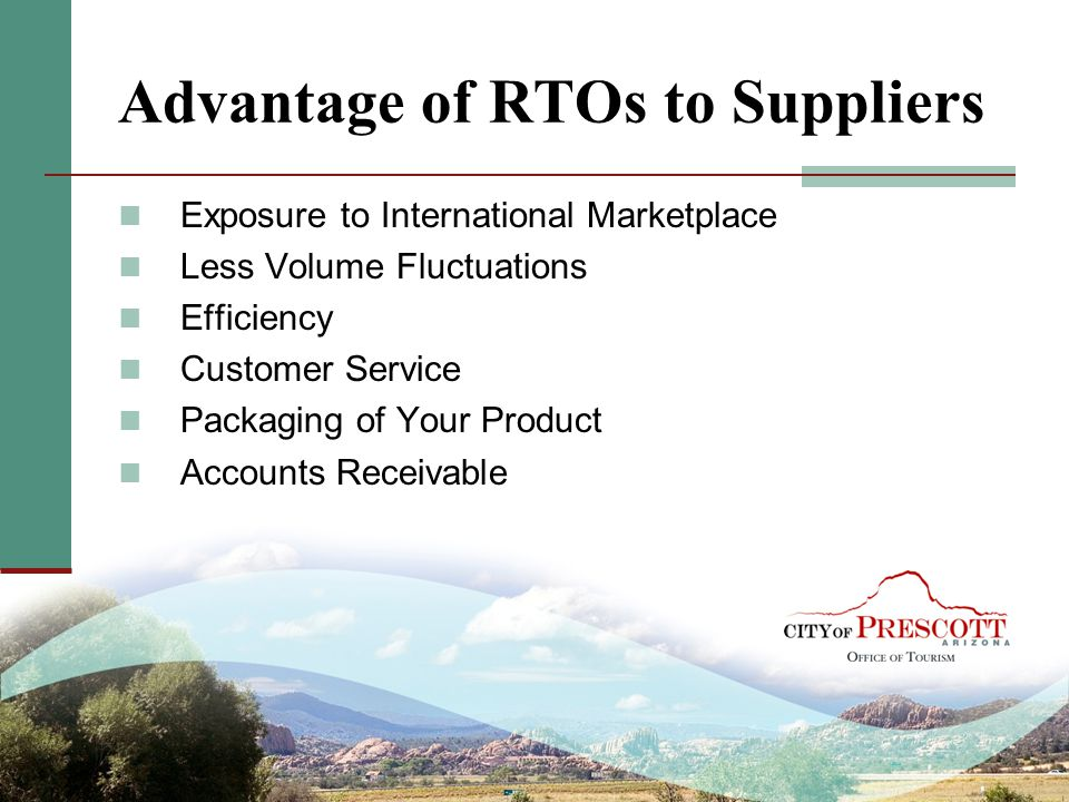Advantage of RTOs to Suppliers