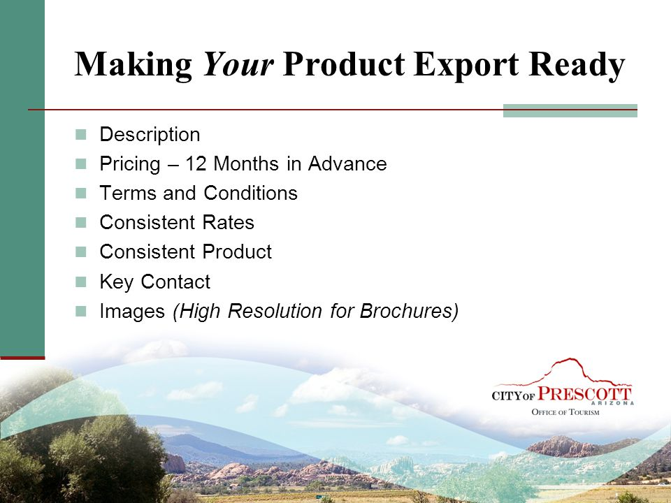 Making Your Product Export Ready