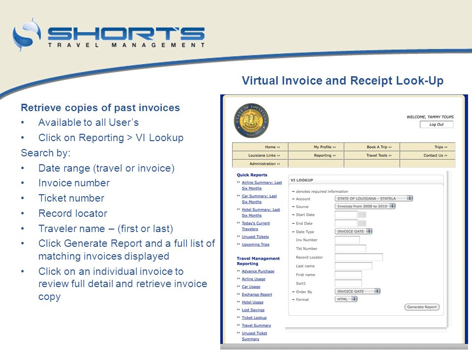 Virtual Invoice and Receipt Look-Up