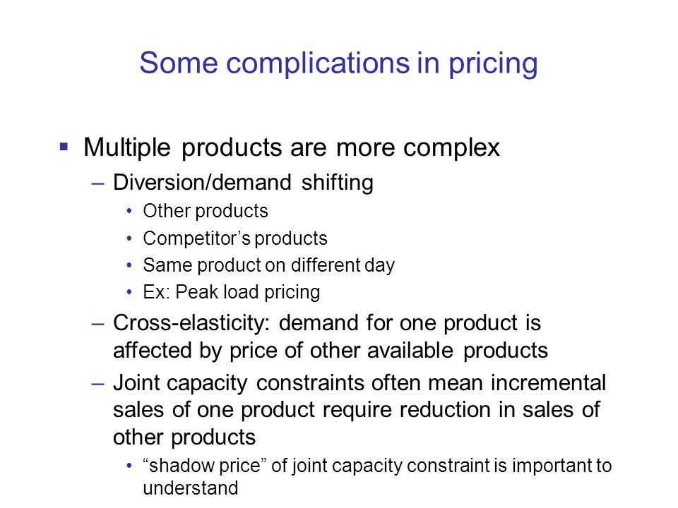 Some complications in pricing