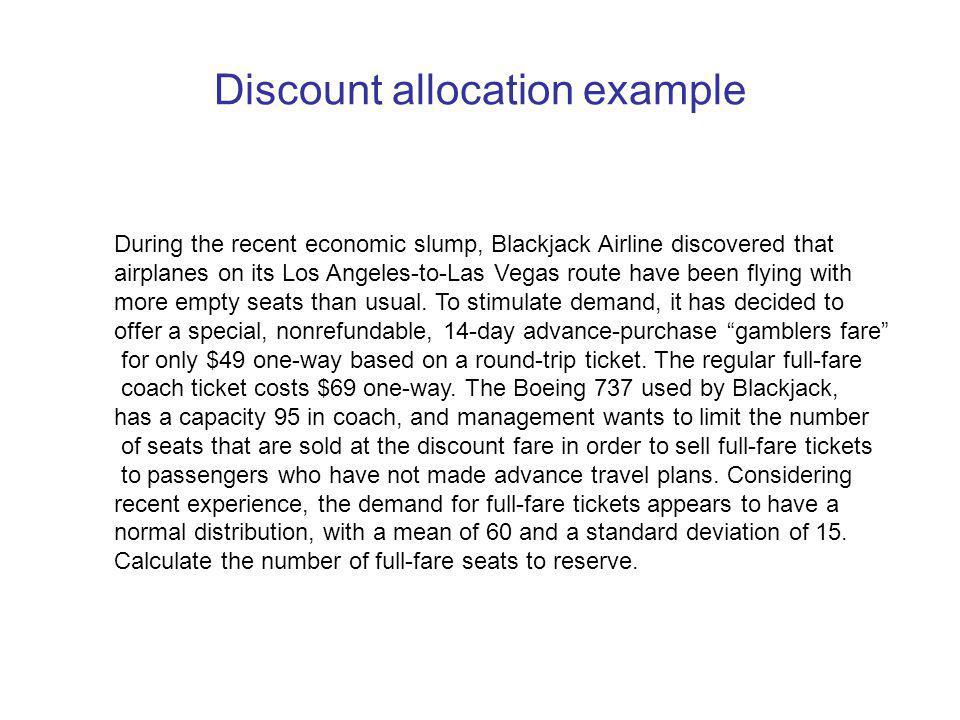 Discount allocation example