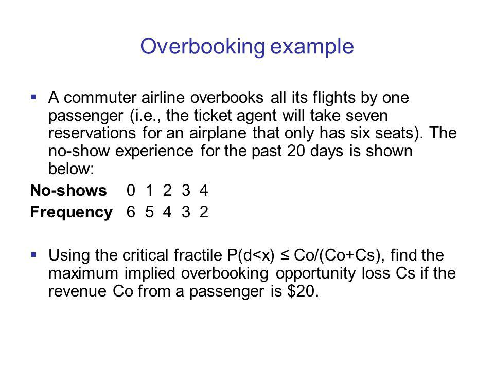 Overbooking example