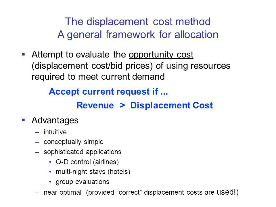 The displacement cost method A general framework for allocation