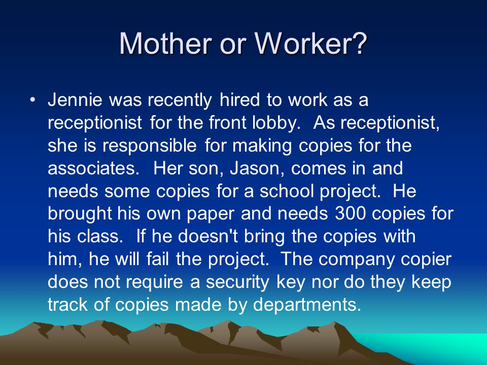 Mother or Worker