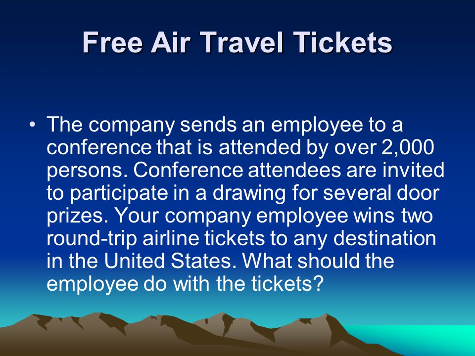 Free Air Travel Tickets