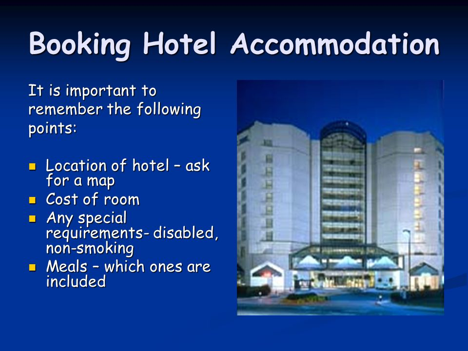 Booking Hotel Accommodation