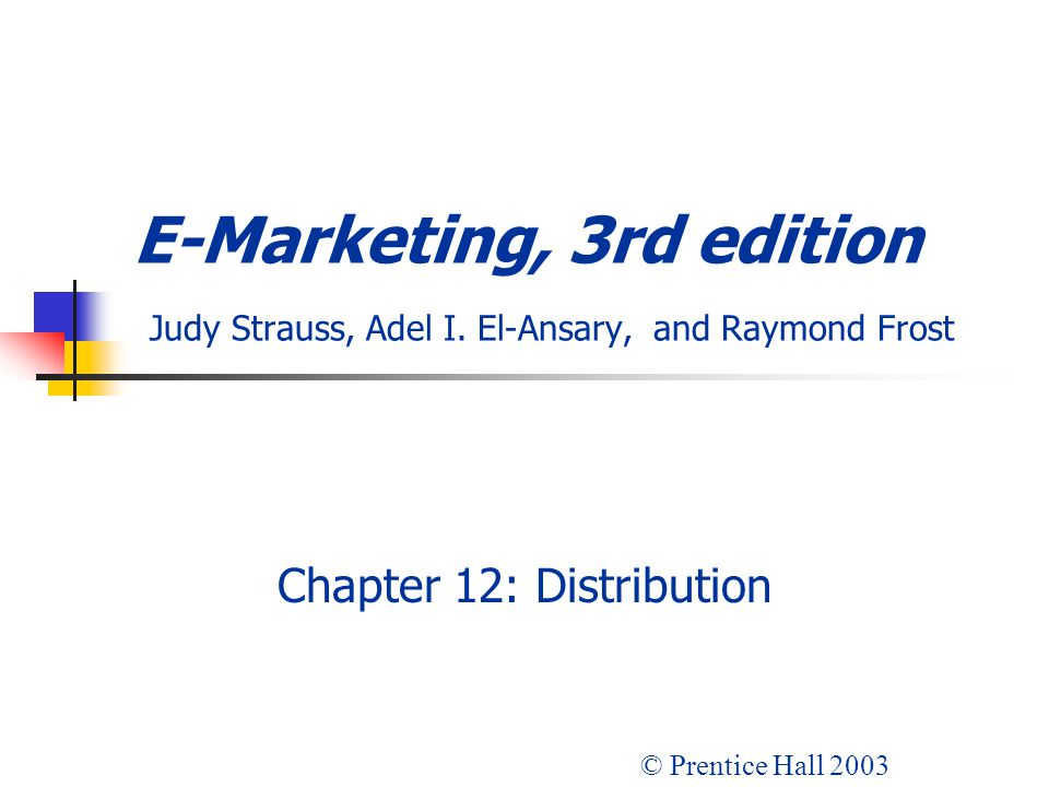 Chapter 12: Distribution
