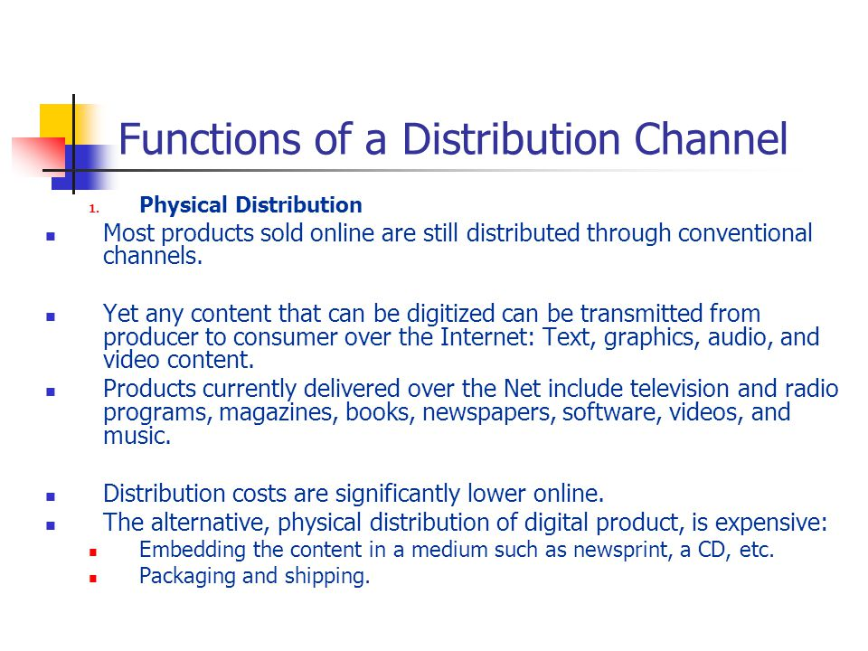 Functions of a Distribution Channel