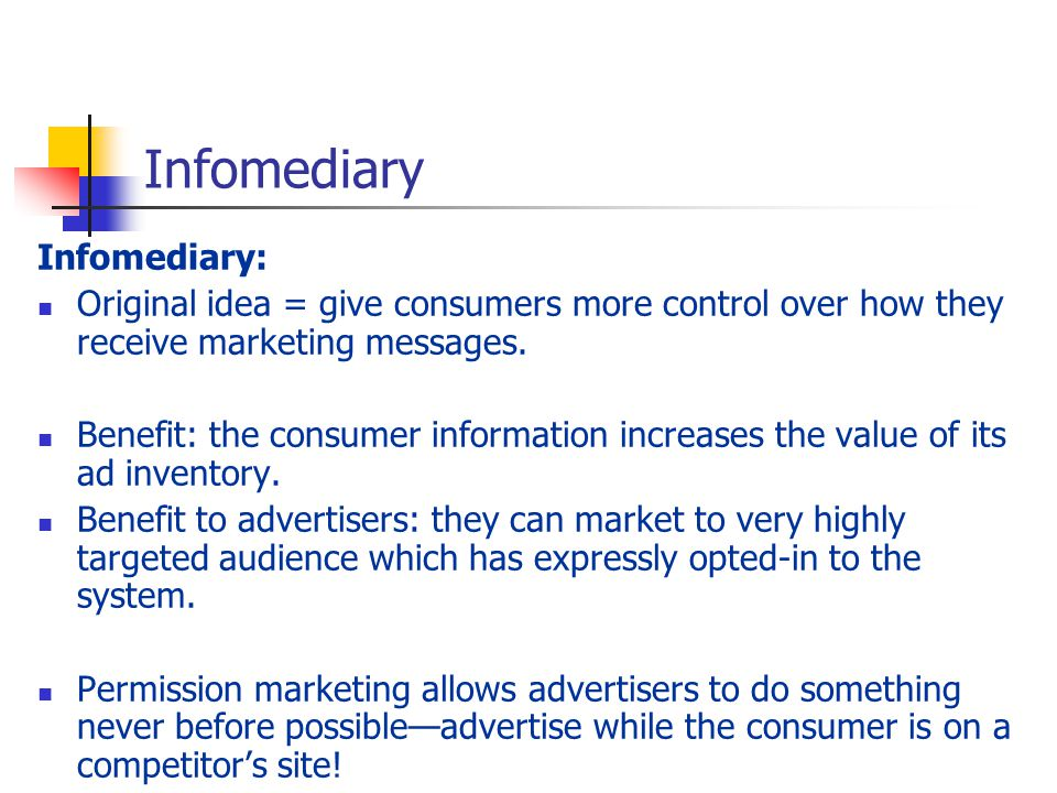 Infomediary Infomediary:
