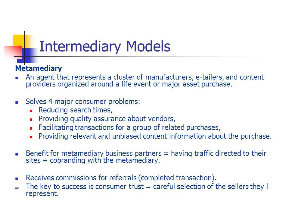 Intermediary Models Metamediary