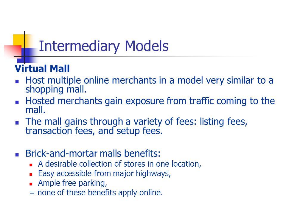 Intermediary Models Virtual Mall