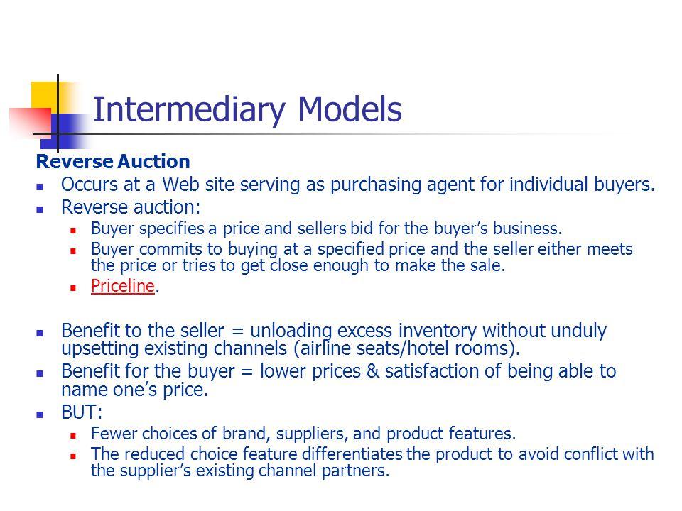 Intermediary Models Reverse Auction