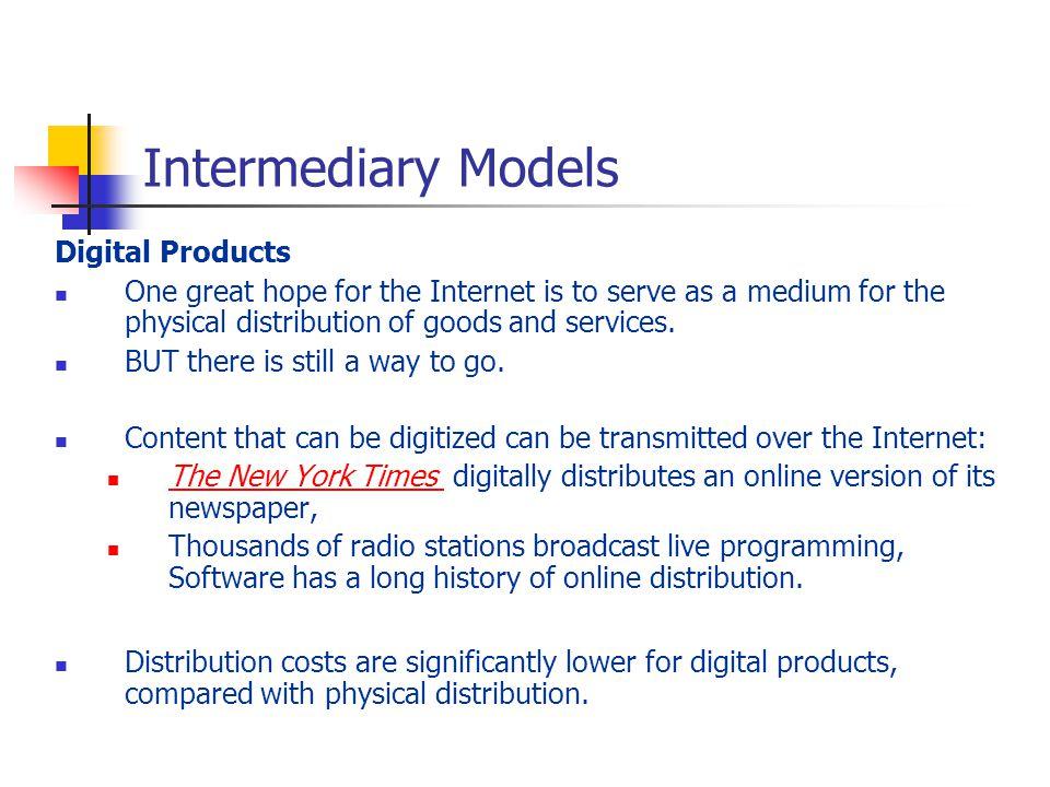 Intermediary Models Digital Products