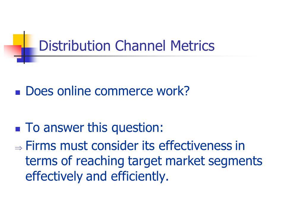 Distribution Channel Metrics