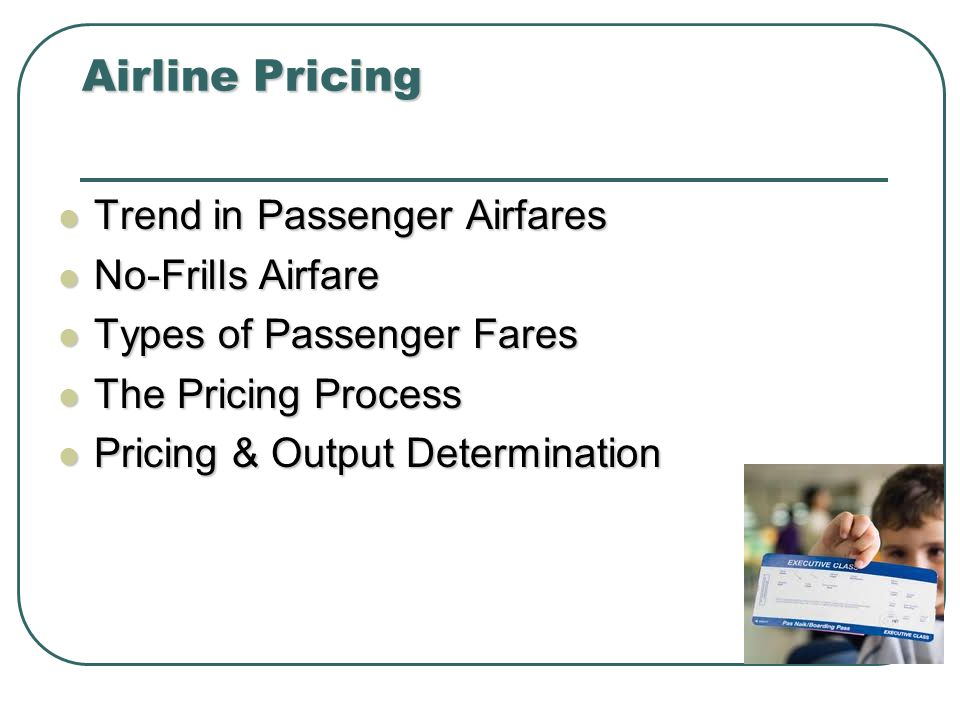 Airline Pricing Trend in Passenger Airfares No-Frills Airfare