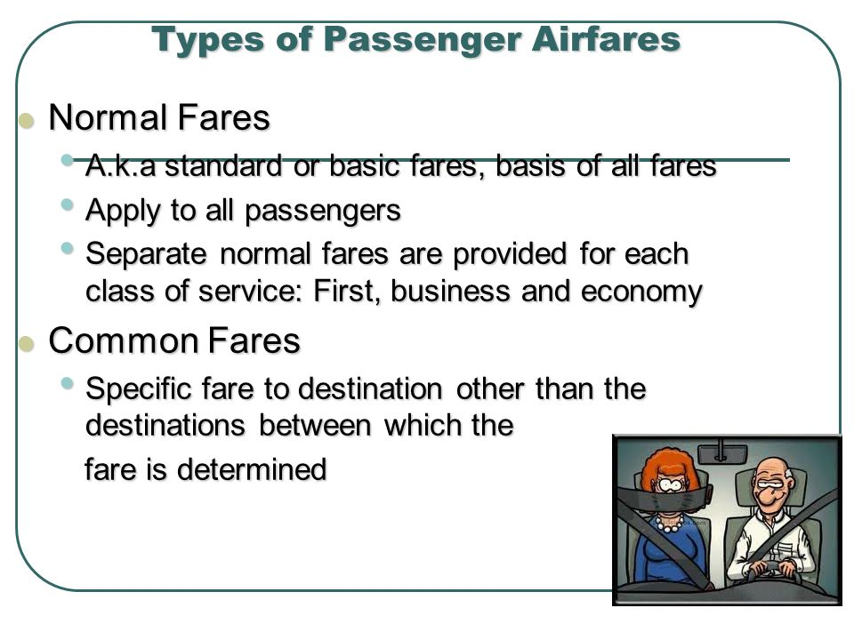 Types of Passenger Airfares