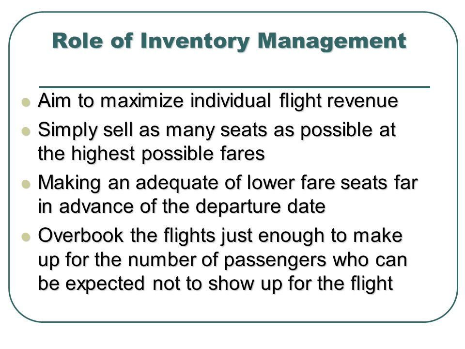 Role of Inventory Management