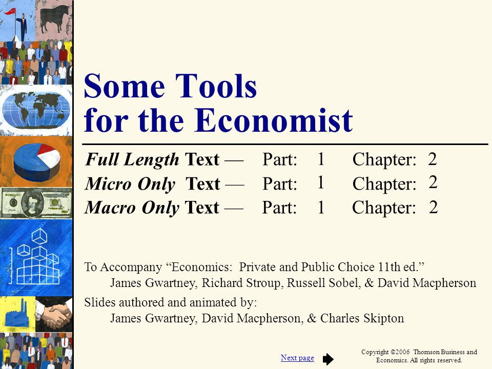 Some Tools for the Economist
