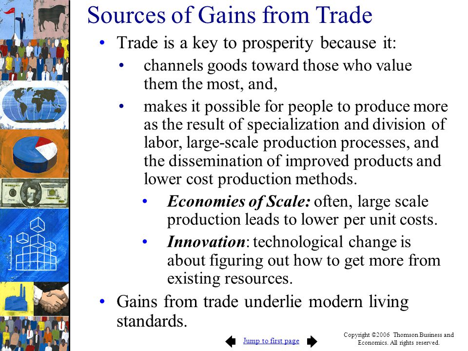Sources of Gains from Trade