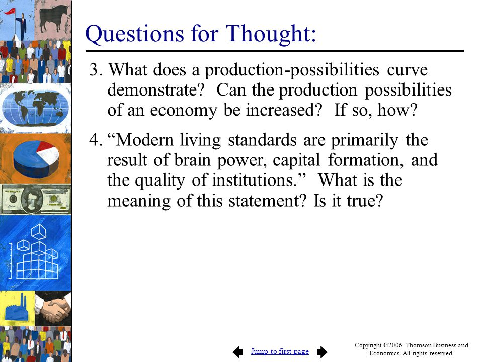 Questions for Thought: