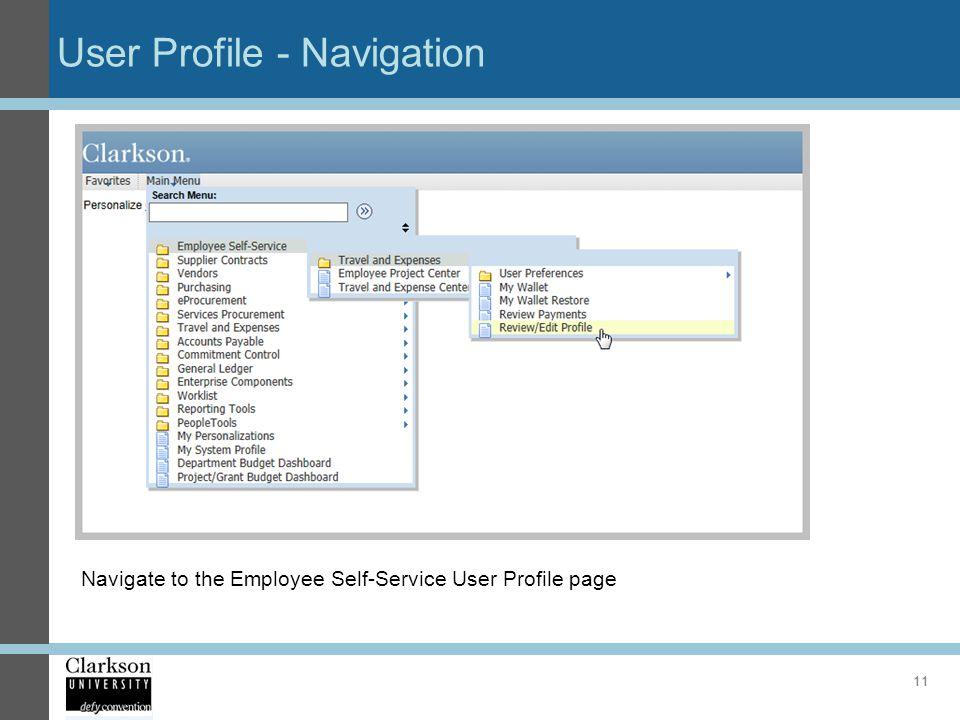 User Profile - Navigation