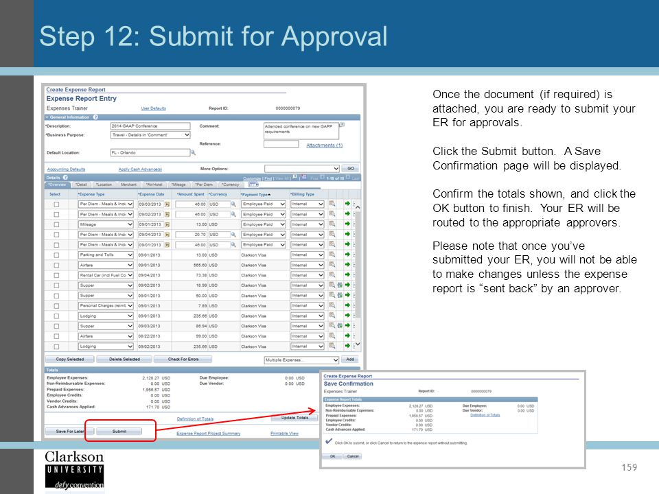 Step 12: Submit for Approval