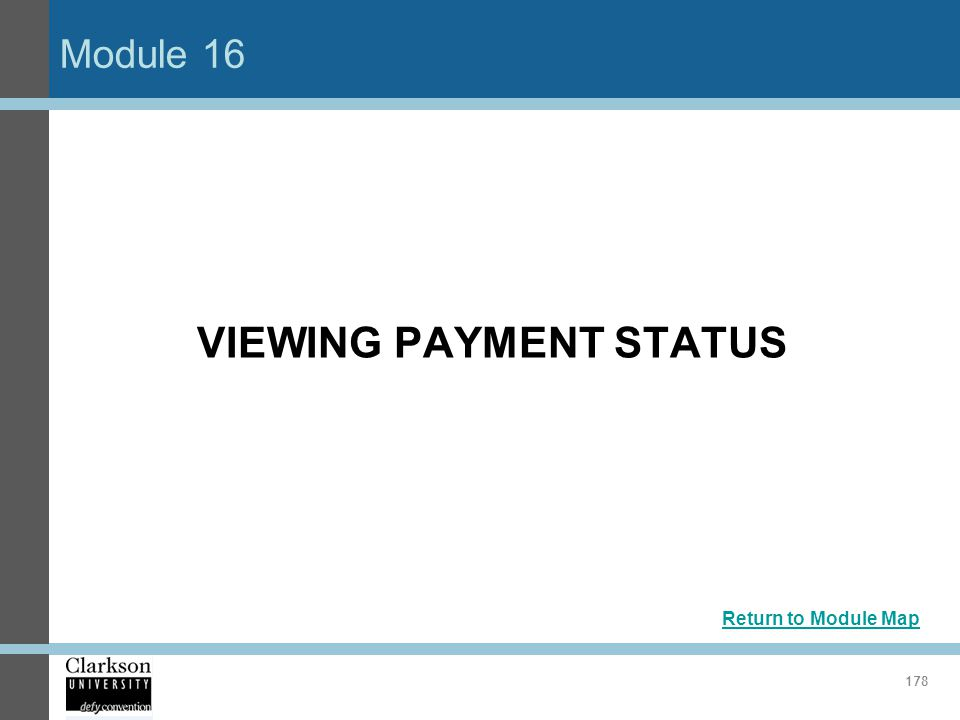 VIEWING PAYMENT STATUS