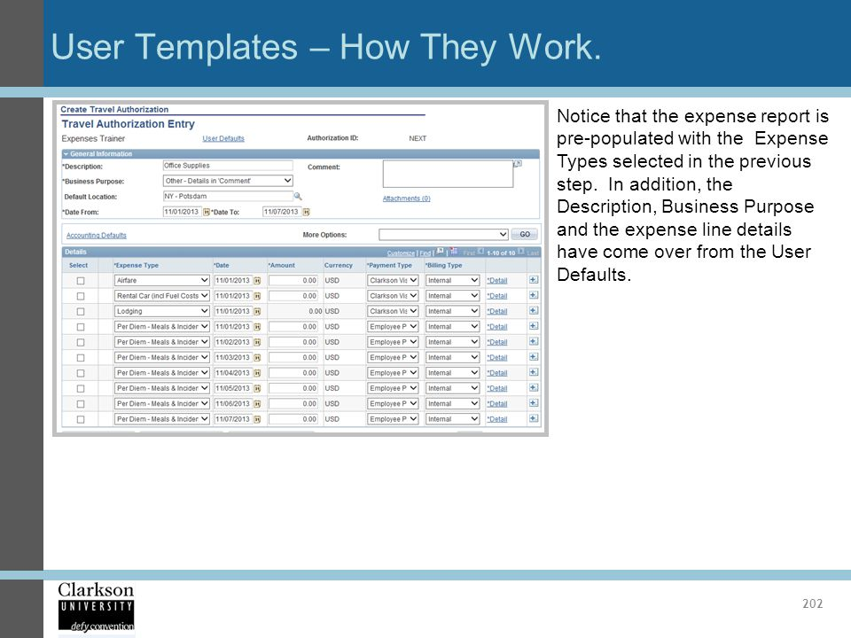 User Templates – How They Work.