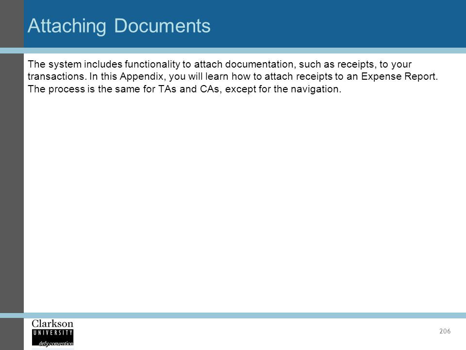 Attaching Documents