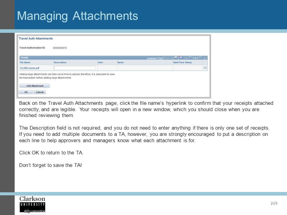 Managing Attachments