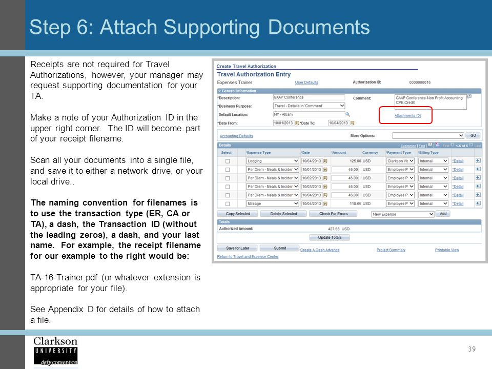 Step 6: Attach Supporting Documents