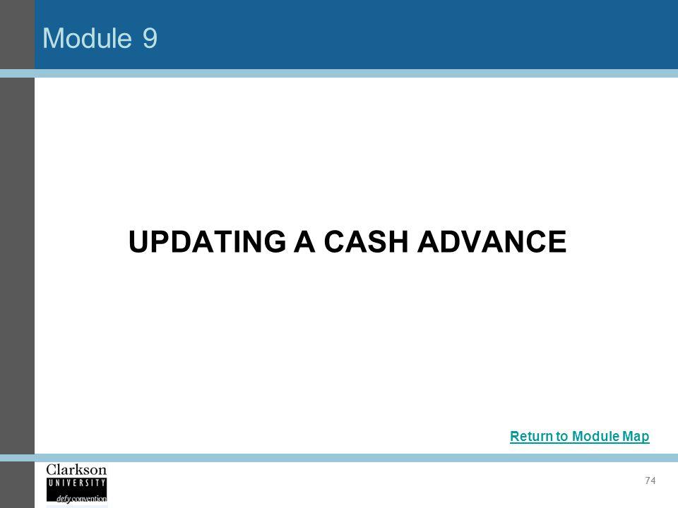 UPDATING A CASH ADVANCE