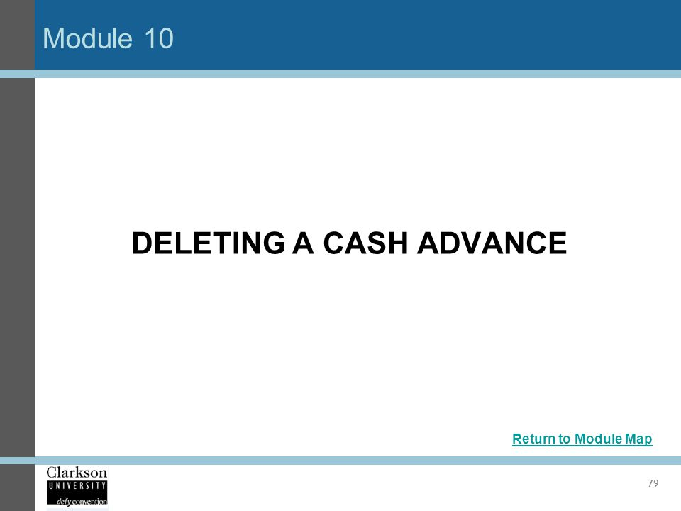 DELETING A CASH ADVANCE