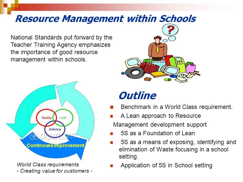 Resource Management within Schools