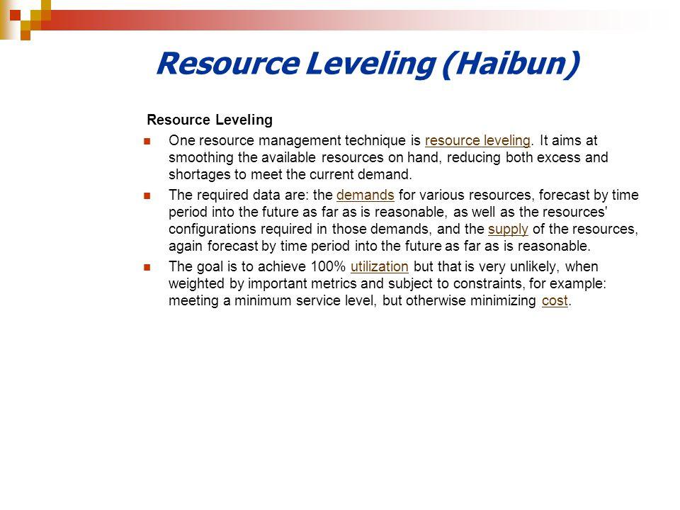 Resource Leveling (Haibun)