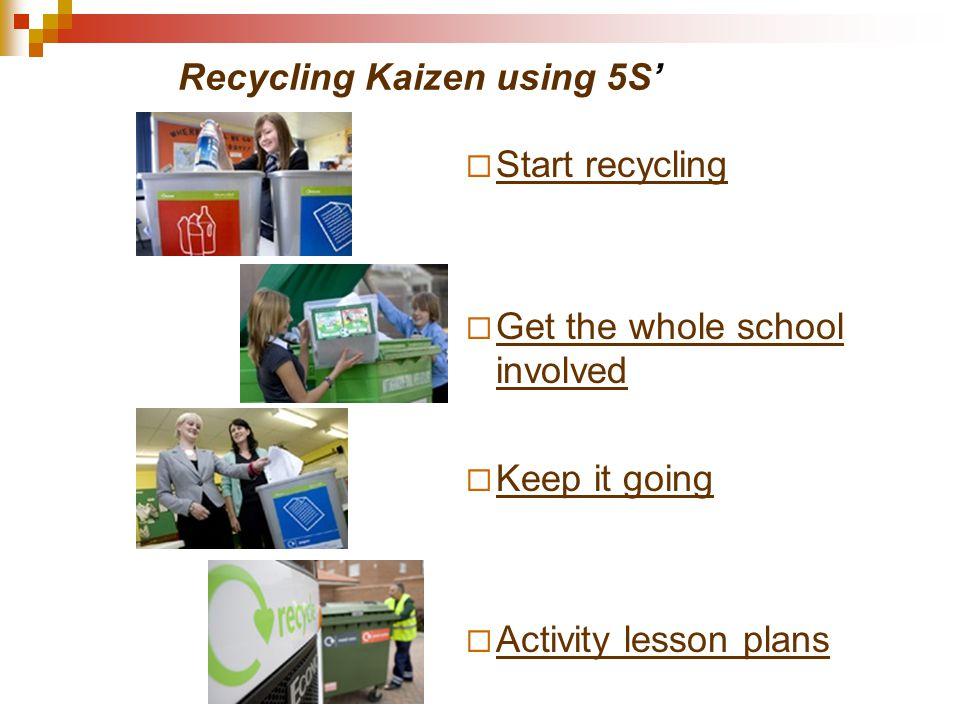 Recycling Kaizen using 5S'