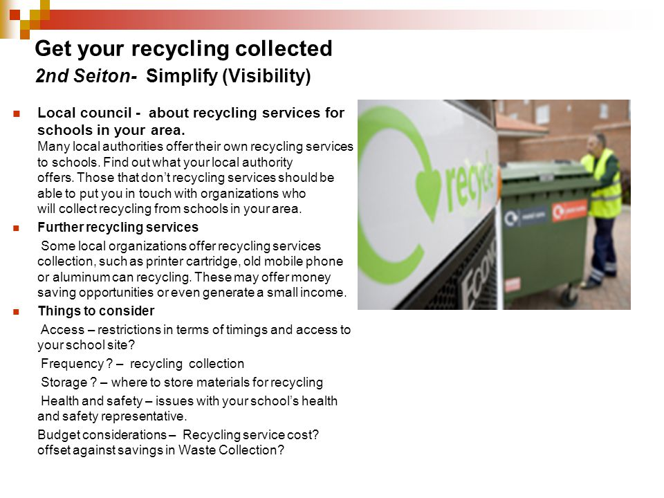 Get your recycling collected
