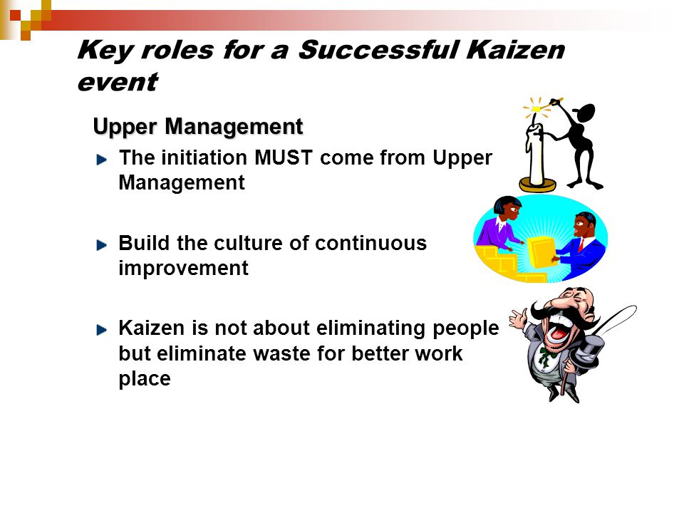 Key roles for a Successful Kaizen event