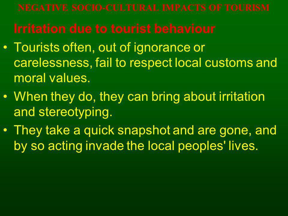 negative socio cultural impacts of sport tourism