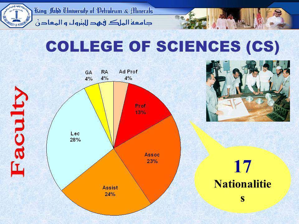 COLLEGE OF SCIENCES (CS)