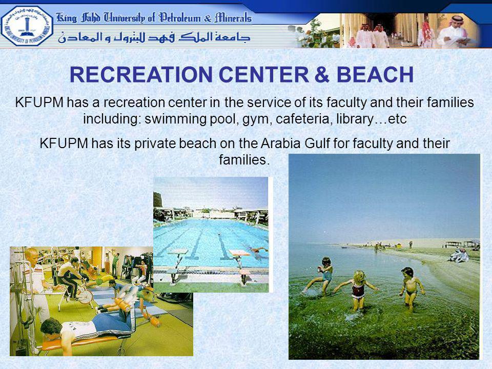 RECREATION CENTER & BEACH