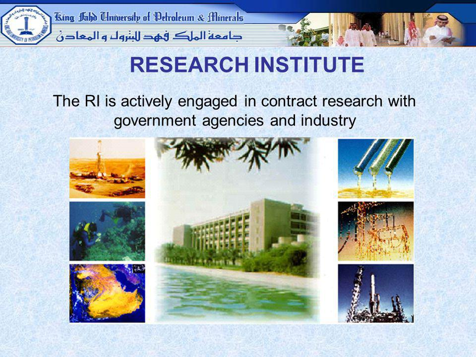 RESEARCH INSTITUTE The RI is actively engaged in contract research with government agencies and industry.