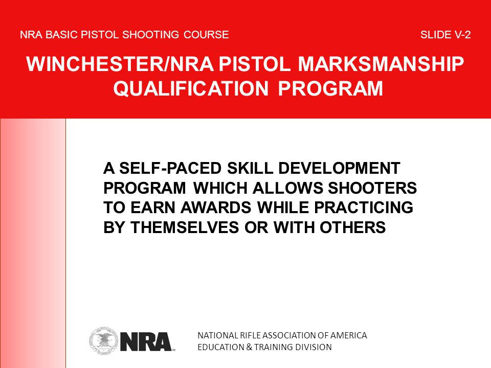 A SELF-PACED SKILL DEVELOPMENT PROGRAM WHICH ALLOWS SHOOTERS